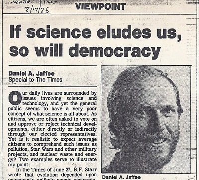 If Science Eludes Us, So Does Democracy:  2021 version!