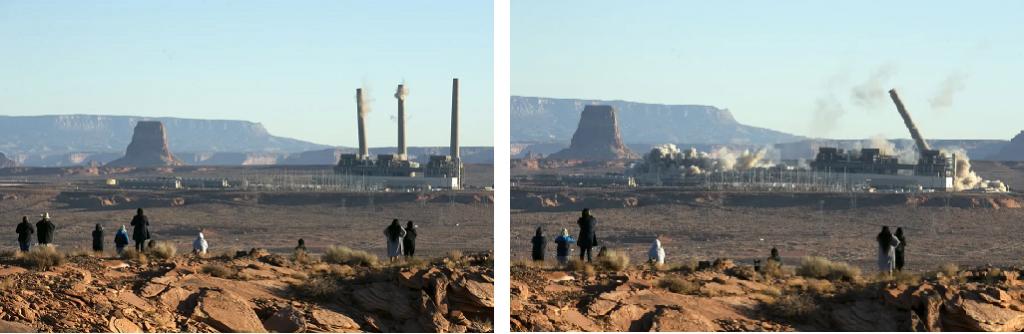 coal plant Navajo Generating Station implosion December 2020